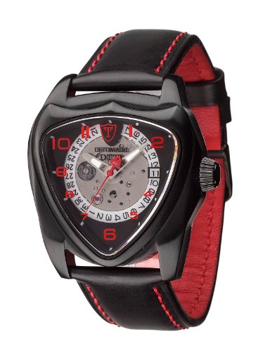 DETOMASO DT20 Black Anniversary Edition Automatic Mens Watch Black Stainless Steel DT20-A