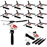 Kicko Ripcord Helicopter - 12 Pack - for Kids, Party Favors, Stocking Stuffers, Classroom Prizes, Decorations, Birthday Supplies, Holidays, Pinata Fillers, Novelties and Rewards