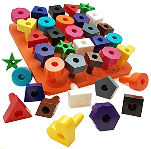 Peg board Shapes Puzzle 38pc