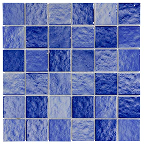 (MTO0301 | Classic Assorted Rectangles Blue Ceramic Mosaic Tile )