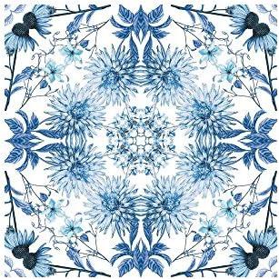 York Wallcoverings bp8137bd BorderポートフォリオII Perception Borderリムーバブル壁紙、、、ホワイト/ブルー