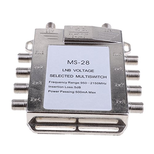 MagiDeal Satellite Switch Max 8 Output Multi Video Path Multi Switch JS-MS28 Silver by Unknown