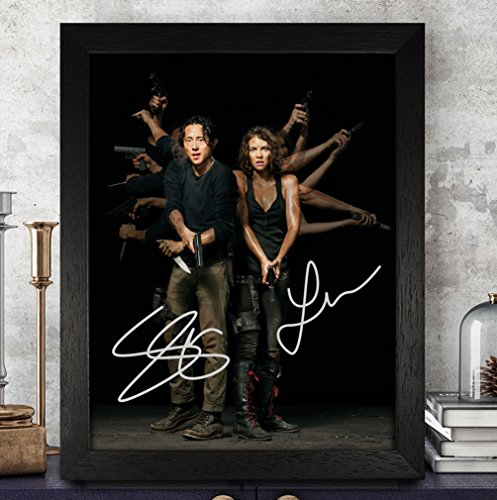 Lauren Cohan [Maggie Greene] & Steven Yeun [Glenn Rhee] Signed Autographed Photo 8X10 Reprint Rp Pp - The Walking Dead - Greene Autographed Photo