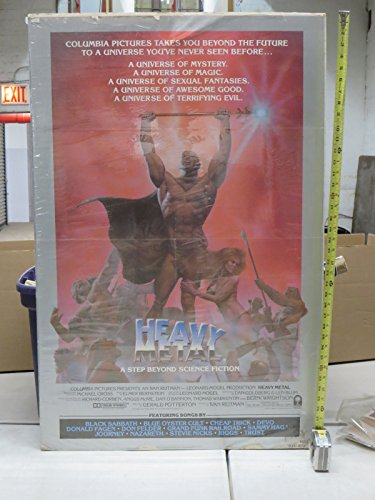 Heavy Metal Theatrical One Sheet Movie Poster 27x41 Very Good Condition 1981 Corben & music!