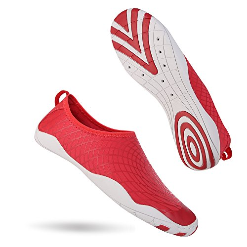 Shoes Pool Water Red Women for INFMETRY Beach Surfing Kids Men S7aIqHxnw0