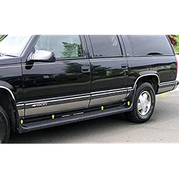 Made in USA Works with 1992-1999 Chevy Suburban Without Fender Flare Rocker Panel Trim 6.25 Wide 10Pc
