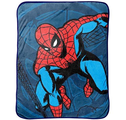 Marvel Spiderman Comic - Manta de Peluche (46 x 60 cm), Comic Throw, Individual, 1