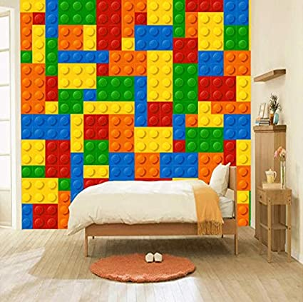 3d Decorations Wallpaper Stickers Wall Murals Living Room Lego
