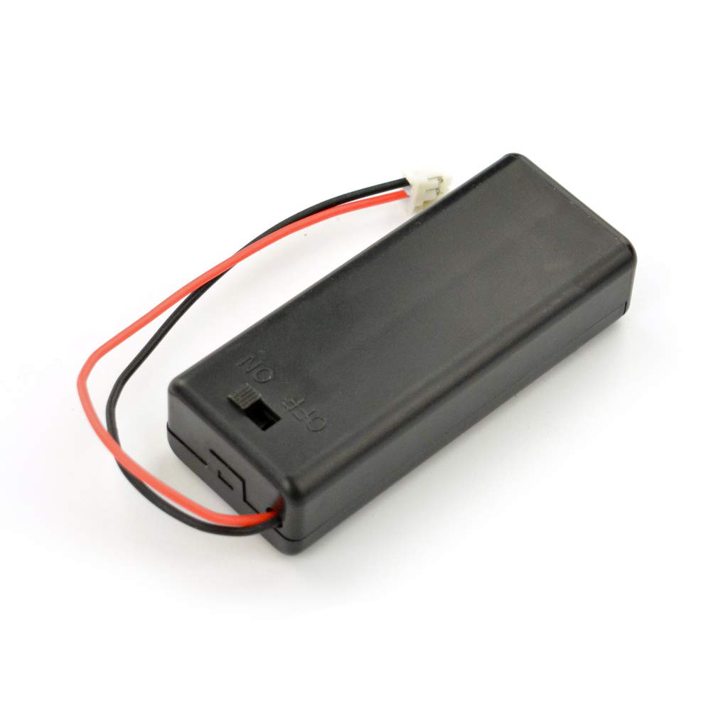 Battery Holder for 2xAAA with Cover and Power Switch
