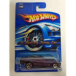 '71 Mustang Funny Car Purple Color 2005 Editions Hot Wheels diecast car No. 182