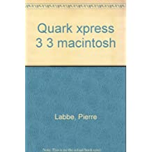 QUARK XPRESS 3.3 MACINTOSH + DISQUETTE