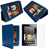 "Dark Blue Case cover for Amazon Kindle Fire HDX 8.9 Inch 8.9"" tablets (2013 release) (Blue)"