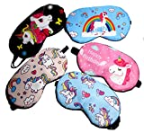 Fashion Unicorn 5Pcs Sleep Mask Cover Lightweight Blindfold Soft Eye Mask for Men Women Kids