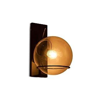 Rétro Créatif Fer Verre Luminaire Applique Murale Industriel Style Minimaliste Design couloir Lampe Murale pour pour Décoration de Maison Bar Cuisine salon Restaurants Café Club Appliques E27 Ampoule