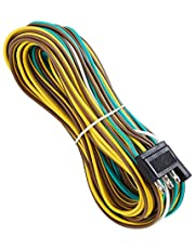 SUZCO 4 Wire 4-Flat Trailer Light Wiring Harness Extension Kit