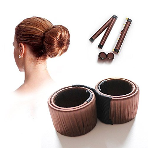 Shop Story–Accessorio di parrucchiere per realizzare dei Chignon. Facilmente–Chignon Facile–Magic Bun–Colore Cioccolato