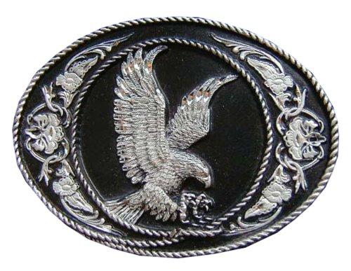Eagle Diamond Cut Novelty Belt Buckle