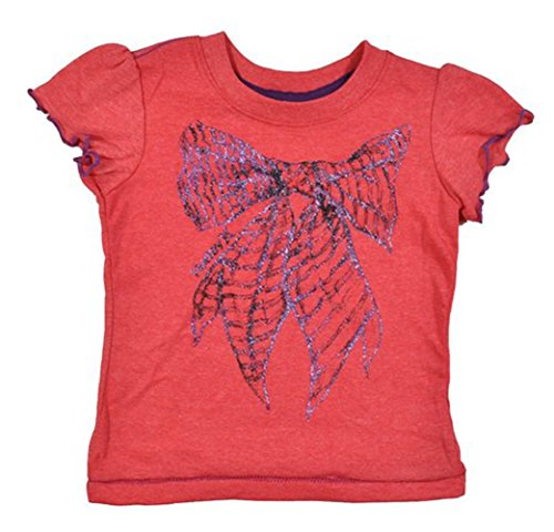 Hurley Baby Girls S/S Razzle Dazzle Glitter Bow Top (24M)
