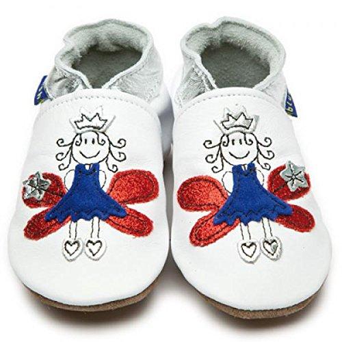Inch Blue , Chaussures souples pour bébé (fille) weiß 19-20