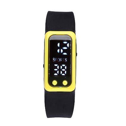 Relojes para Mujer Hombre, Winkey Sport Run Paso Reloj Pulsera Podómetro Calorías Contador Digital LCD