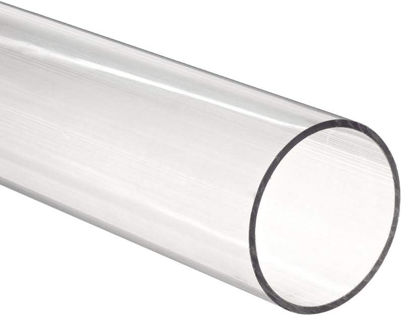 SZQL en Polycarbonate Tubes Tube Clear Round PMMA Tuyau de r/ésistance Chimique pour Les Outils de Bricolage,Diameter:23mmm