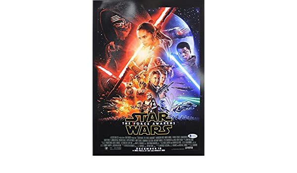J.J. Abrams Star Wars The Force Awakens Authentic Signed 12x18 Photo BAS #C15355 at Amazons Entertainment Collectibles Store