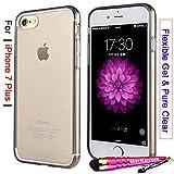 iPhone 7 Plus - Case, MerKuyom [Pure Clear Transparent] [Slim-Fit] [Flexible Gel] Thin Soft TPU Case Skin Cover + Stylus For Apple iPhone 7 Plus , 7Plus (2016) – 5.5 inch (Smoke)
