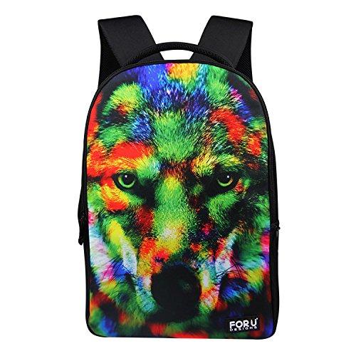 FOR U DESIGNS Fashion Camouflage Wild Zoo Wolf Style Mens Animal Backpacks School Bags for Teenagers Boys - Animal Zoo Print Sunglasses
