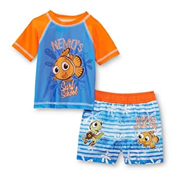 Amazon.com: Disney Baby Finding Nemo Boys Rash Guard Shirt