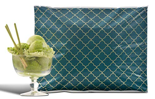 - 10x13 Pack of 100 Crème de Menthe Reusable Poly Mailers Eco-Friendly Art Deco Green Gold Double Use Seal Pull Tab Designer a la Mode