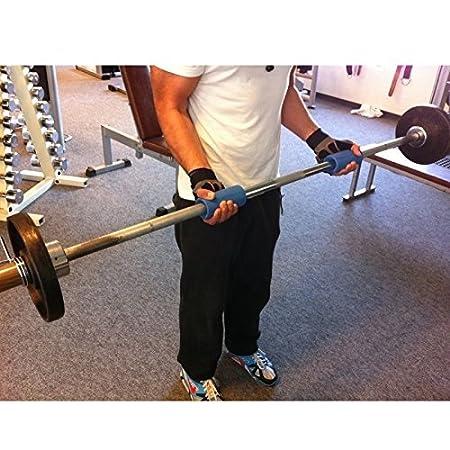 TNP Accessories® Silicona para ejercicios de pesas Grips para bar Gripz - Mancuernas (mm) para fitness escalada en masa Gains fuerza de agarre brazo bíceps ...