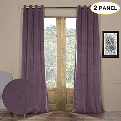 Artdix Blackout Curtains Panels Window Drapes – Fresh Violet 84W x 96L Inches (2 Panels) Velvet Lined Grommet Top Nursery Insulated Solid Thermal Custom Curtains For Bedroom, Living Room, Kids Room For Sale