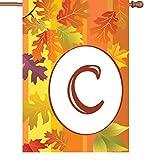 Premier Kites 52406 Fall Monogram House Flag, Letter C, 28-Inch