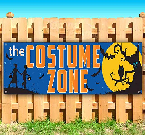 The Costume Zone 13 oz Heavy Duty Vinyl Banner Sign with Metal Grommets, New, Store, Advertising, Flag, (Many Sizes Available) ()