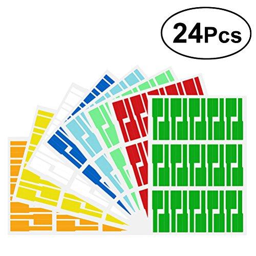 Etiquetas adhesivas para cables Toymytoy, A4, coloridas, impermeables, tipo P, papel de etiquetas de cable de fibra óptica,...
