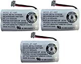 New! Genuine Uniden BBTY0651101 BT-1007 NiMH 600mAh DC 2.4V Rechargeable Cordless Telephone Battery (3-Pack)