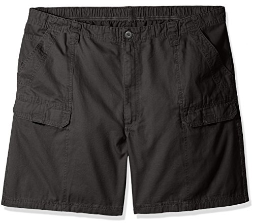 Wrangler Authentics Men's Big & Tall Canvas Utility Hiker Short,  Anthracite, 44