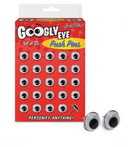 Accoutrements Googly Eyes Push Pins