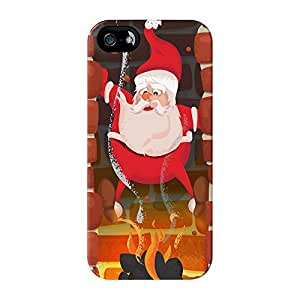 Santa Full Wrap High Quality 3D Printed Case for iPhone 5 / 5s by Nick Greenaway + FREE Crystal Clear Screen Protector