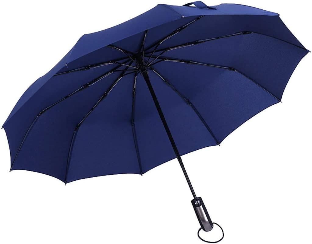 Pratique /à Transporter Parapluie Automatique Coupe-Vent Pour Hommes Anti-UV Parapluie Parapluies Plage Pliable Invers/é /à Double Couche Ouverture Et Fermeture Automatique