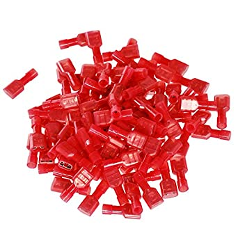 100pcs New Red 22//18 Gauge Nylon Male Fully-Insulated Quick Disconnects