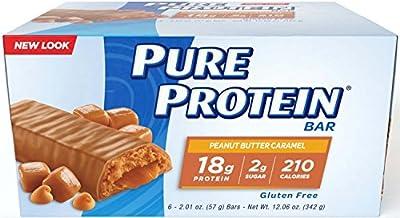 Pure Protein Peanut Butter, Caramel Surprise 12.06 Ounce Bars Value Pkg 8 Packs (6 Bars Each) Total of 48 Bars