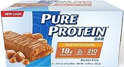 Pure Protein Peanut Butter, Caramel 12.06 Ounce Bars 2 Packs 6 Bars Each