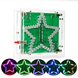 Icstation DIY Electronic Assemble Soldering Kit Star Shaped Colorful Flashing LED Rainbow Lights with Clear Case Season Decoration Creative Gift