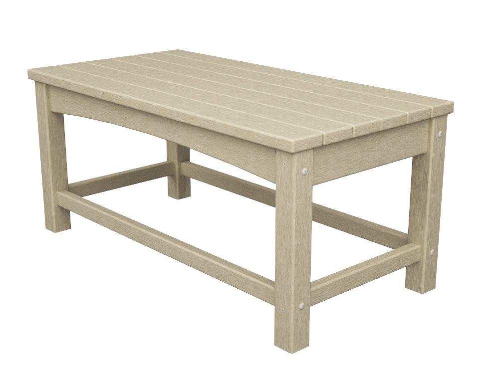 POLYWOOD CLT1836SA Club Coffee Table, Sand