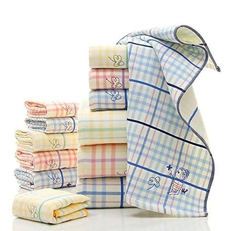 zhuotop 3 piezas Juego de toallas de baño suave absorbente Pure algodón bordado toalla de mano manopla: Amazon.es: Hogar