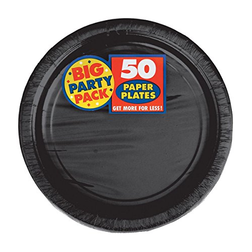 Amscan Big Party Pack Jet Black Paper Plates