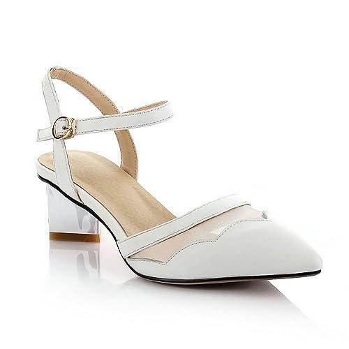 Mujer De Color Blanco Sandalias Talla Para 34 Vestir 1to9 xIz5qn