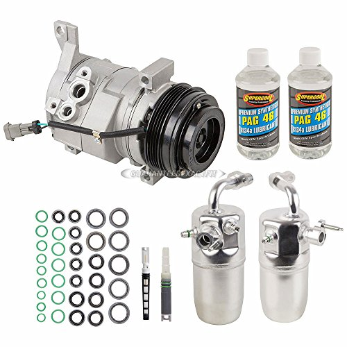 AC Compressor w/A/C Repair Kit For Chevy Avalanche 1500 GMC Sierra 3500 HD - BuyAutoParts 60-81582RK NEW
