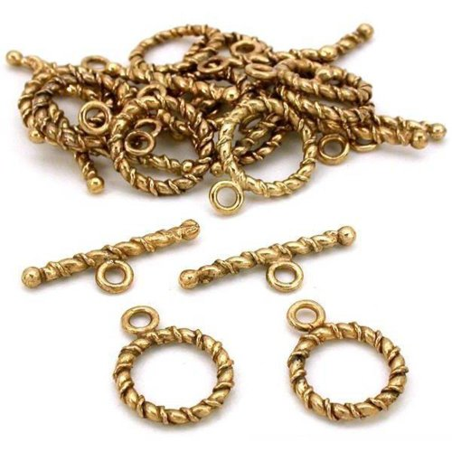 Wire Toggle Clasp Antique Gold Plated 14.5mm Approx 12